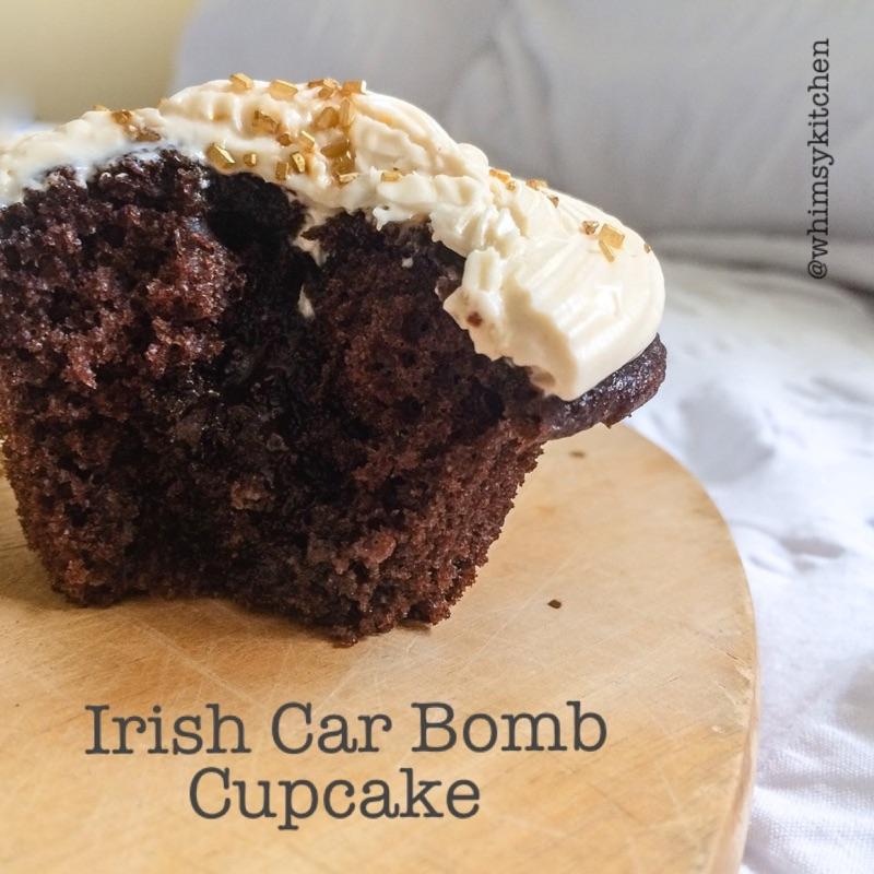 Boozy Irish Car Bomb Cupcakes